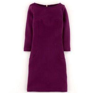 Boden ottoman Shift Dress Burgundy size 10 tall